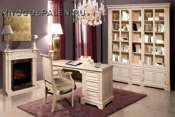 Кабинет Престиж купить в салоне-студии мебели Барселона mnogospalen.ru много спален мебель Италии классические современные