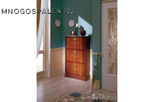 Обувница №569 Пекан купить в салоне-студии мебели Барселона mnogospalen.ru много спален мебель Италии классические современные