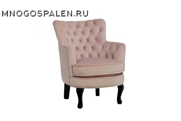 Кресло велюровое розовое PJC741-PJ621 купить в салоне-студии мебели Барселона mnogospalen.ru много спален мебель Италии классические современные