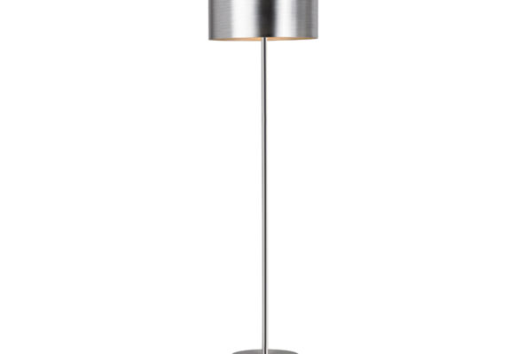 39354 Торшер SAGANTO, 1x60W(E27), сталь, никель мат/пластик, серебряный купить в салоне-студии мебели Барселона mnogospalen.ru много спален мебель Италии классические современные